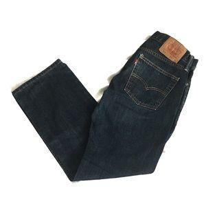 Levi's 514 Slim Straight Dark Denim Jeans 31x30